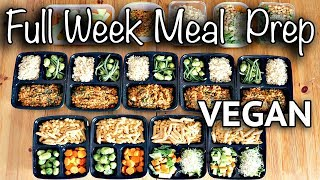 WEEKLY VEGAN MEAL PREP FOR BACK TO SCHOOL (CHEAP + EASY)