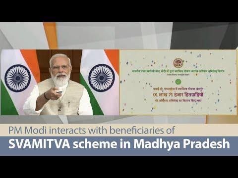 PM Modi interacts with beneficiaries of SVAMITVA scheme in Madhya Pradesh   PMO