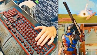 KEYBOARD CAM!! (FORTNITE BATTLE ROYALE)