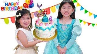 化妝變身公主 準備生日會~裝飾蛋糕!Transform Princess Makeover& Prepare Birthday Party~