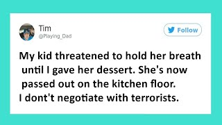 Funny Tweets From Exasperated Parents Trying To Feed Their Kids At Mealtime