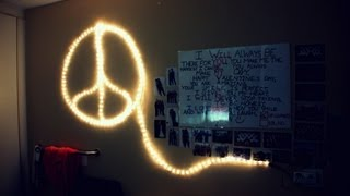 How to Make a Peace Sign with Lights