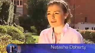 Natasha da las gracias al Papa