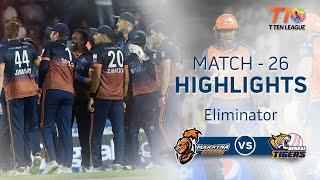 Match 26 Eliminator Match: Maratha Arabians vs Bengal Tigers, T10 League season 2