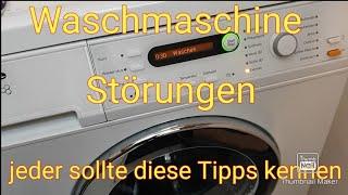 Miele® Bosch® Waschmaschine  Störung Reinigung mit diesen Tipps behelfen