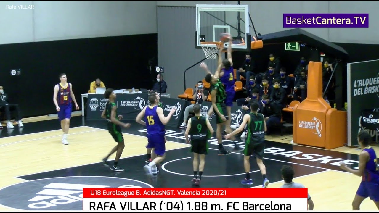 RAFA VILLAR (´04) 1.88 m. FC Barcelona. Euroleague B. AdidasNGT Valencia 2020/21 #BasketCantera.TV