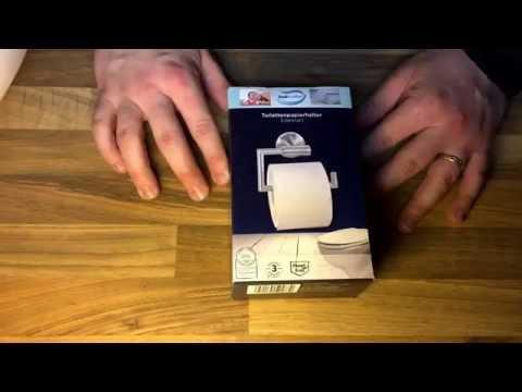 Bad Komfort Toiletten Papier Halter Edelstahl Norma unboxing und Anleitung