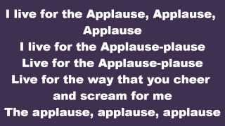 **LYRICS** Lady Gaga - Applause