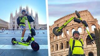 da Milano a Roma in MONOPATTINO