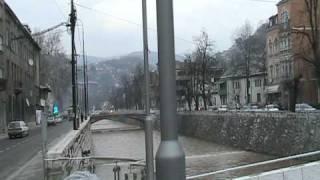 preview picture of video 'Straßenbahn in Sarajevo'