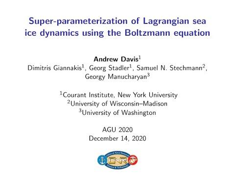 Super-parameterization of Lagrangian sea ice dynamics using the Boltzmann equation
