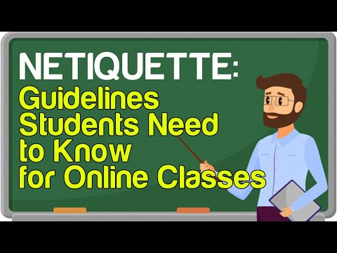 Netiquette: Guidelines Students Need to Know for Online Classes ...