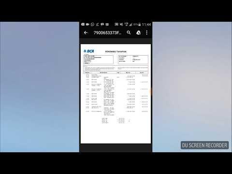 Cara download rekening koran BCA