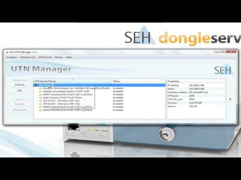 Dongle Server - How to use Port Key Control