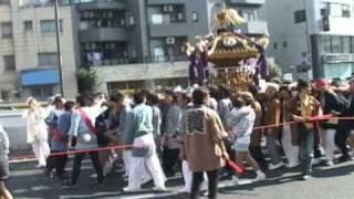平成21年 瀬田玉川神社例大祭 本社神輿宮出し