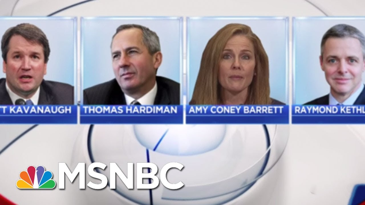 Anthony Kennedy Is Out, Donald Trump's Potential SCOTUS Picks Are In | Hallie Jackson | MSNBC thumbnail
