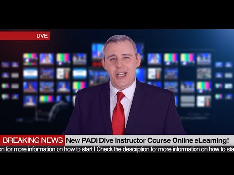 Breaking News: PADI Online Courses ✍️ Diving Instructor - YouTube