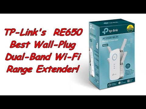 TP-Link RE650, Wall-Plug Dual-Band AC2600 Wi-Fi Range Extender.