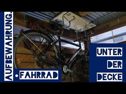 DIY Fahrradhalter Fahrradaufhängung Fahrradaufbewahrung unter der Decke
