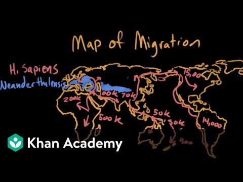 Map Of Australia 60000 Years Ago.Peopling The Earth Video Khan Academy