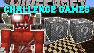 Minecraft: CYBER DEMON CHALLENGE GAMES - Lucky Block Mod - Modded Mini-Game