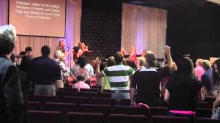 Angie Miles leading worship 2  7-1-13