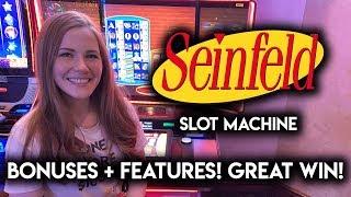 Awesome Run on Seinfeld Slot Machine! BIG BONUS WIN!!