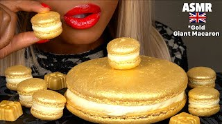 ASMR Eating GIANT GOLD Macarons, Tried TASTY buzzfeed recipe, Chocolate, Eating Show, Mukbang먹방 asmr