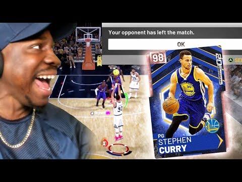PINK DIAMOND CURRY Made Him RAGE QUIT! NBA 2K19 MyTeam Gameplay