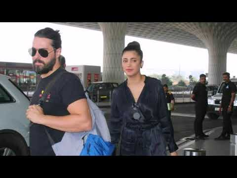 Shruti Hassan with her Rumored Boyfriend at the Airport on  2nd