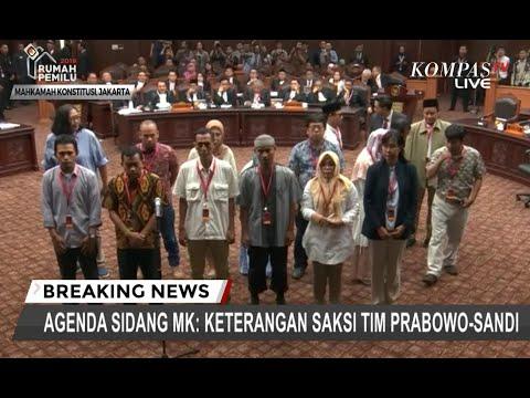 Saksi-saksi Tim BPN Diambil Sumpah di Sidang Lanjutan Sengketa Pilpres 2019