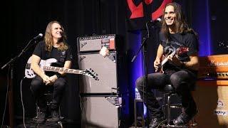 David Ellefson and Kiko Loureiro at Replay Guitar Exchange