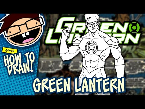 How to Draw GREEN LANTERN (Comic Version) | Narrated Easy Step-by-Step Tutorial