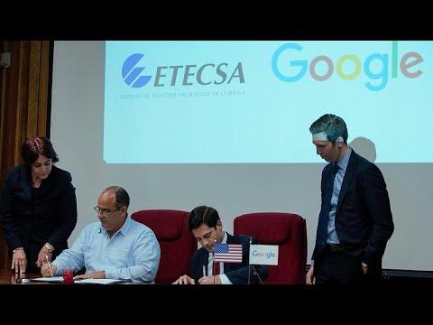 Κούβα: Συνεργασία με τη Google