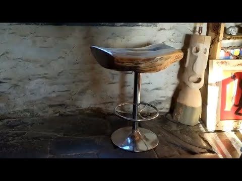 Swivel Chair Makeover using Driftwood