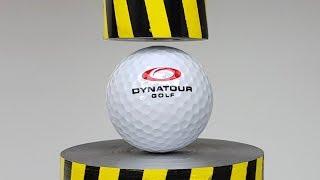EXPERIMENT MINI HYDRAULIC PRESS 100 TON vs GOLF BALL (What's Inside Golf Ball)