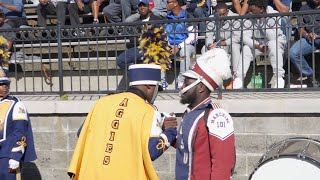 Blue & Gold Marching Machine vs SCSU Marching 101: Battle in the Stands