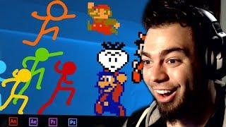 NUEVO SUPER MARIO BULLYING - Animation vs Super Mario Bros | ZellenDust