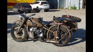 Мотоцикл М-72. Запуск после 40 лет стоянки.