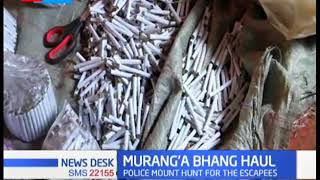 Police nab 3,000 rolls of bang worth sh.100,000 in Maragua Muranga county, one suspect arrested