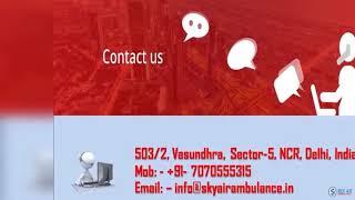 Take ICU Setup Air Ambulance Service in Varanasi and Bhopal by Sky