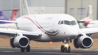 Sukhoi Superjet 100 Landing - First European Operator (LWIA #01)