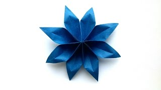 How to make origami flower carambola carmen diy tutorial how to make an easy origami paper flower 8 petal origami paper tutorials mightylinksfo