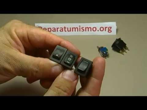 APRENDE ELECTRONICA BASICA -TIPOS DE INTERRUPTORES Y CONMUTADORES SIMILARES PERO DIFERENTES
