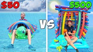 $50 vs $500 Floating Tiny Houses! *BUDGET CHALLENGE*