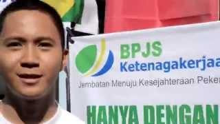 Jalan Sehat Tribun Timur Kartu AS Kampanye Tanyasaya BPJS Ketenagakerjaan