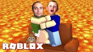 ПОЛ это ЛАВА Выживание в игре ROBLOX лава игра для детей в Роблокс убегаем от лавы Новые приключения