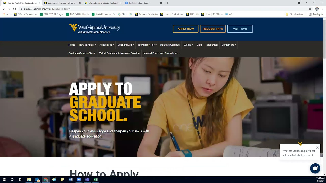 Play WVU Biomedical Sciences PhD Application Video