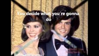 I´m leaving it all up to you Osmonds lyrics