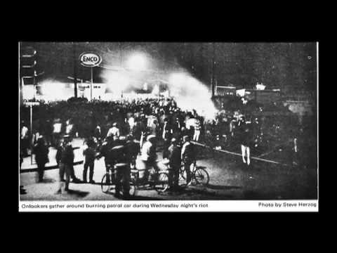 The burning of the bank in Isla vista